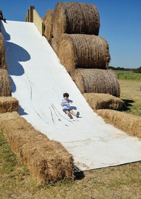 Hay Slide at Rocky Creek Maze