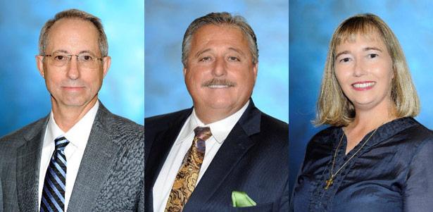 Re-elected directors J. Mark Morgan, Chairman, Henry A. Capdeboscq, Jr., and Gertrude LaCour Hawkins