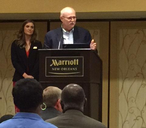 Louisiana Land Bank CEO Stephen Austin speaks at the Louisiana 100 Century Farm program