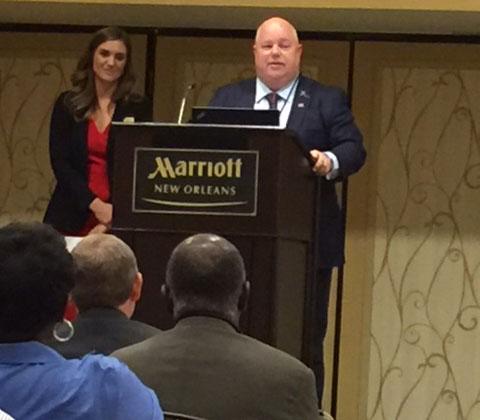 Louisiana Agriculture Commissioner, Mike Strain speaks at the Louisiana 100 Century Farm program