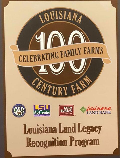 Louisiana Land Legacy Recognition Program