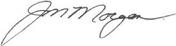 J. Mark Morgan signature