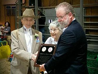 David Ogletree with Admiral Dale and Myrle Karr