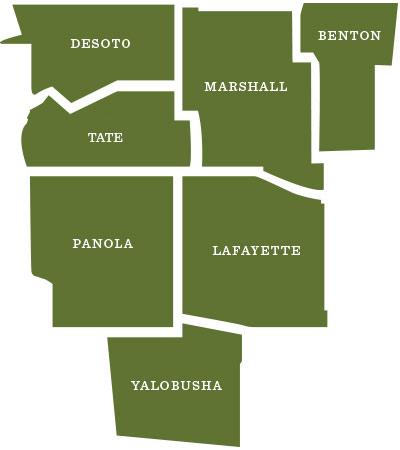 Senatobia map
