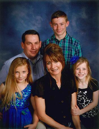 Wade Polk and family