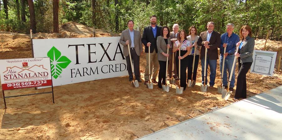 Texas Farm Credit Breaks Ground on New Nacogdoches Location