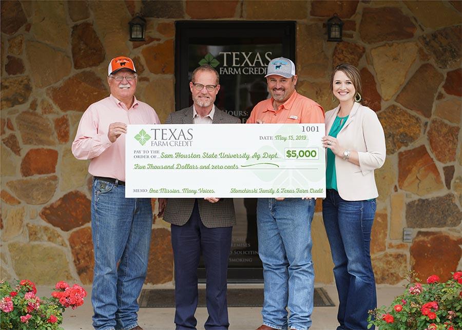 Texas Farm Credit Donates $5,000 to Sam Houston State University